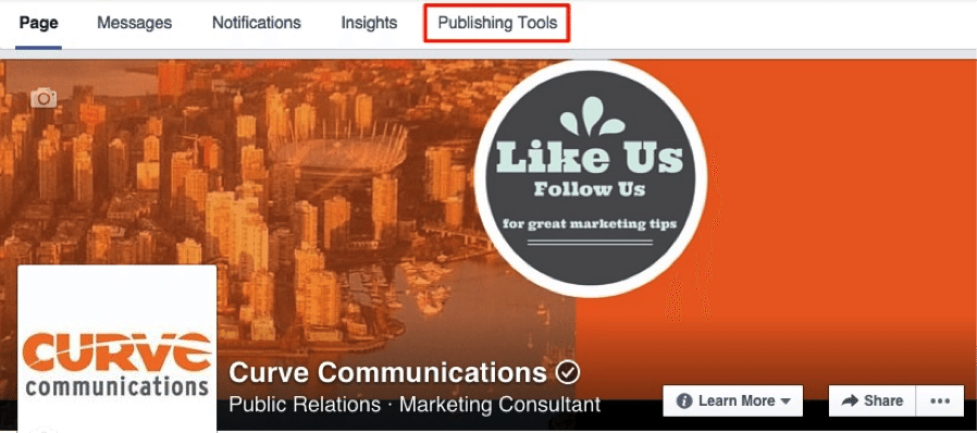 Facebook Banner Curve Communications
