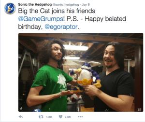Sonic Game Grumps Gift Arin Hanson Dan Avidan