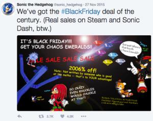 Sonic Black Friday Sales