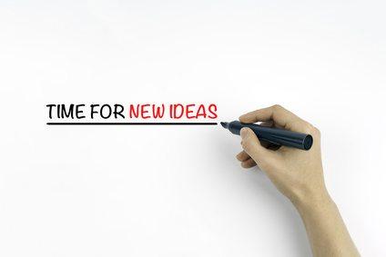 New ideas whiteboard