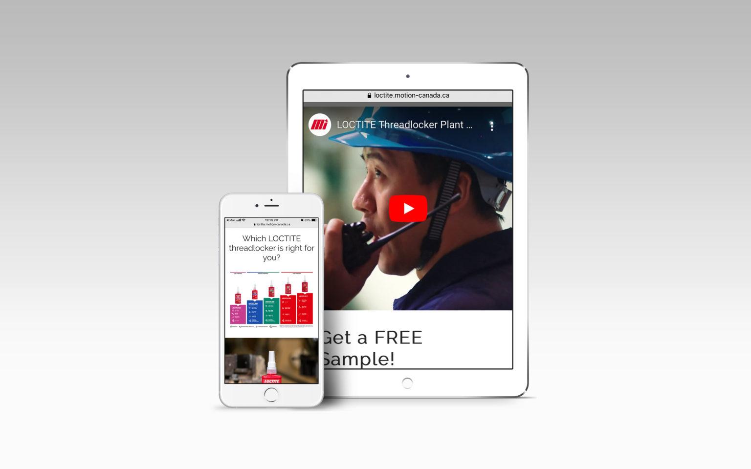 LOCTITE Landing Page Mockup Mobile