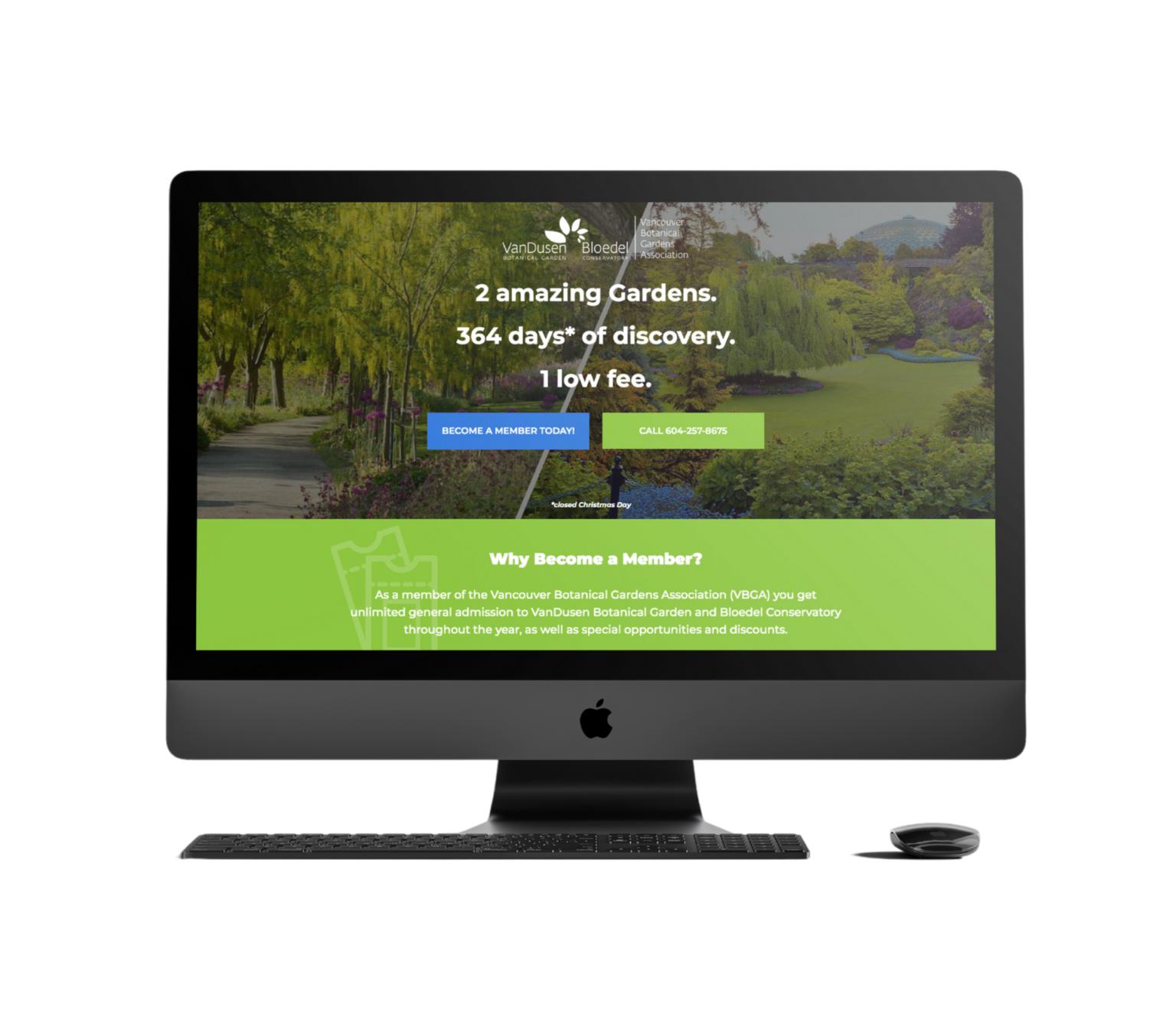 VanDusen Website Mockup