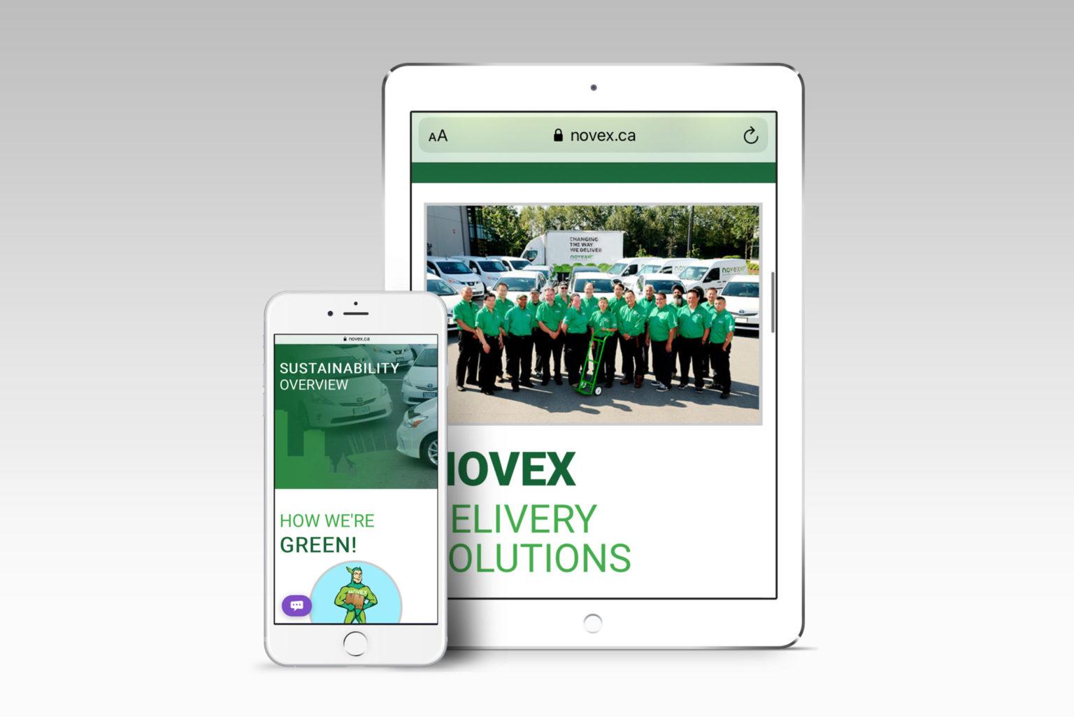 Novex Website Mobile