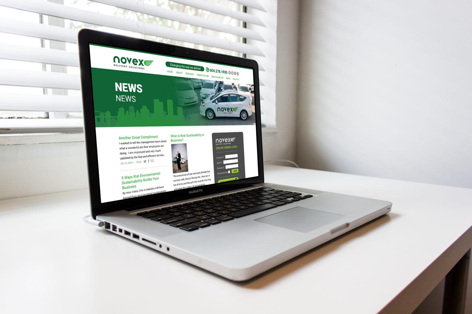 Novex Website Laptop